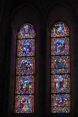 Eglise - Deutsch: Katholische Pfarrkirche Saint-Rémy, ehemalige Abteikirche der Abtei Montier-en-Der in Montier-en-Der im Département Haute-Marne (Champagne-Ardenne/Frankreich), Bleiglasfenster