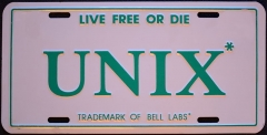 Eglise de Nully - English: Original UNIX license plate in the NH style.  aps