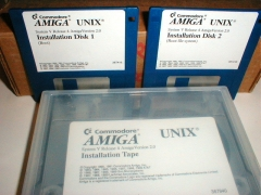 Eglise de Nully -  Picture of Amiga Unix installation disks