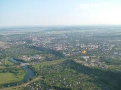 Croix dite de la Périère - Русский: Панорама города Кунгур с воздушного шара, Пермский край