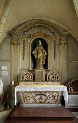 Eglise - Nederlands: Dancevoir (departement Haute-Marne, Frankrijk): interieur van de Sint-Petrus-Bandenkerk - detail