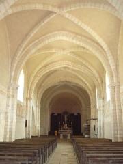 Eglise - Français:   Intérieur de l\'église de Dancevoir (Haute-Marne)