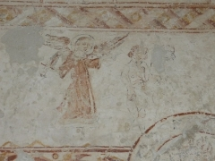 Eglise - Français:   Détail d\'une fresque sur les murs de l\'église de Dancevoir (Haute-Marne)