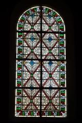 Eglise Saint-Pierre-Saint-Paul - Deutsch: Bleiglasfenster in der Kirche Saints-Pierre-et-Paul in Rimaucourt, Darstellung: Ornament