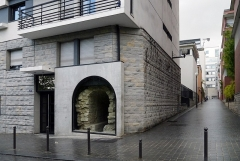 Aqueduc des Eaux de Rungis (également sur communes de Rungis, Fresnes, L'Hay-les-Roses, Arcueil, Gentilly et Paris 14) - English: Rue de l'Empereur-Valentinien, Paris 14th arrondissement. Part of the former aqueduc Médicis.