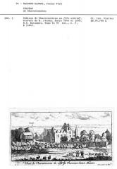 Château de Charentonneau -  Gravure du 17ème siècle représentant le château de Charentonneau