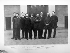 Ecole nationale vétérinaire - Les chefs de travaux de l'Ecole Nationale Vétérinaire d'Alfort en juin 1907: Germain, Monvoisin, Douville, Basset, Pécard, Delmer, Henry, Lecaplain, Magne