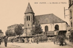 Eglise Saint-Germain - English: Saint-Germain l'Auxerrois church in Pantin (suburb of Paris) around 1900