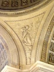Carmel - Français:   Chapelle de l\'ancien Carmel, intérieur, bas-relief sous le dôme.
