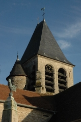 Eglise - English: Photo of steeple of Aincourt's church