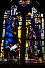 Eglise - English: Photo Stain glass of Aincourt's church