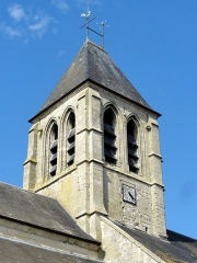 Eglise Saint-Pierre-Saint-Paul -  Clocher, vue depuis le sud-ouest.