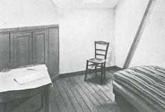 Auberge Ravoux - Deutsch: Das Sterbezimmer von Vincent van Gogh im Gasthaus Ravoux in Auvers.
