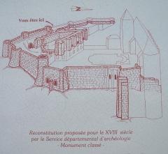 Château féodal -  panneau d'affichage à l'entrée du chateau de beaumont sur oise