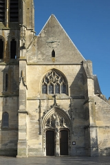 Eglise Saint-Gervais et Saint-Protais - Deutsch: Katholische Pfarrkirche Saint-Gervais-Saint-Protais in Bessancourt im Département Val-d'Oise (Île de France/Frankreich), Westfassade