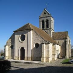 Eglise Saint-Crépin-Saint-Crépinien -  Coté ouest de l'église Saint-Crépin-et-Saint-Crépinien, Bréançon, Val d'Oise, France