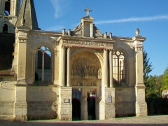 Eglise Saint-Christophe - Français:   Le portail Renaissance pour l\'extension inachevée.