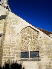 Eglise Saint-Christophe - Français:   Fenêtre bouchée de l\'abside nord-est.