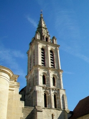 Eglise Saint-Christophe - Français:   Le clocher; vue depuis l\'ouest.