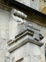 Eglise Saint-Germain-de-Paris -  Bas-côté sud, deuxième contrefort intermédiaire.