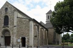Eglise prieurale et paroissiale de Saint-Eugène - Deutsch: Katholische Kirche Notre-Dame in Deuil-la-Barre, einer Gemeinde im Département Val-d'Oise (Île-de-France), Ansicht von Westen