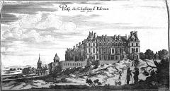 Domaine du Château d'Ecouen, actuellement musée de la Renaissance - Français:   dessiné dans Topographiae Galliae.