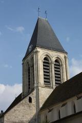 Eglise Saint-Martin - Deutsch: Katholische Pfarrkirche Saint-Martin in Herblay, einer Gemeinde im Département Val d'Oise (Île de France), Glockenturm