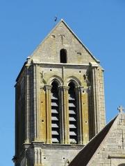 Eglise Saint-Clair - Français:   Clocher, côté ouest.