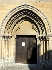 Eglise Saint-Clair - Français:   Portail occidental.