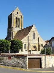 Eglise Saint-Clair - Français:   Vue depuis l\'ouest.