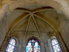 Eglise Saint-Clair - Français:   Voûte de l\'abside.