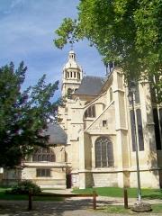 Eglise Saint-Martin - Français:   Vue partielle du chœur, transept sud et clocher, depuis l\'est (jardin du presbytère).