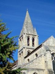 Eglise Notre-Dame - Français:   Le clocher, côté est.