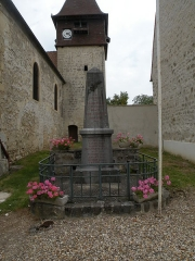 Eglise - English: War memorial of Labbeville, Val-d'Oise, France.