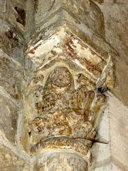 Eglise Saint-Côme-Saint-Damien - Chœur, 2e travée, chapiteau de l'arcature sud.
