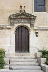 Eglise de Jouy-le-Comte - Deutsch: Katholische Kirche Saint-Denis in Jouy-le-Comte, einem Ortsteil von Parmain (Département Val-d'Oise) in der Region Île-de-France (Frankreich), Südportal