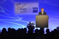 Dolmen de la Pierre-Plate situé dans la forêt de l'Isle-Adam - Deutsch: Der  Bundespräsident Horst Köhler bei der Bestenehrung 2009