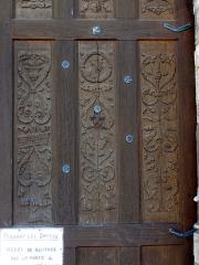 Eglise Saint-Samson -  Vantaux du portail occidental de la nef, premier quart XVIe siècle.