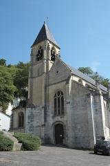 Eglise Saint-Samson - Deutsch: Katholische Pfarrkirche Saint-Samson in La Roche-Guyon im Département Val-d'Oise (Île-de-France/Frankreich)