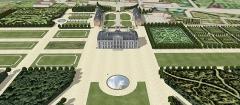 Château des Caramans - Français:   Vue cavalière du château de Roissy du coté du jardin. XVIIIe siècle.