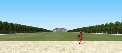 Château des Caramans - Français:   Vue du château depuis le bout du grand axe. XVIIIe siècle. Notez comme les communs viennent se greffer au bâtiment principal.