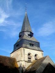 Eglise Saint-Clair - Français:   Vue du clocher depuis l\'est.
