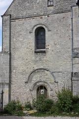 Eglise Saint-Clair - Français:   Saint-Clair-sur-Epte (95), église Notre-Dame, façade romane