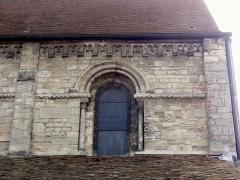 Eglise Saint-Clair - Français:   Première travée de la nef, côté nord.