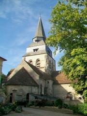 Eglise Saint-Clair - Français:   La façade est; vue depuis la place devant la mairie.