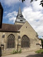 Eglise Saint-Clair - Français:   Vue partielle depuis le sud.