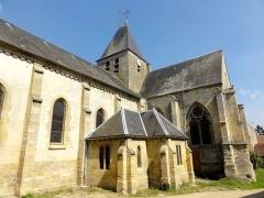Eglise -  Vue depuis le sud-ouest.