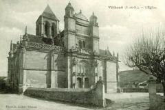 Eglise Notre-Dame -  Eglise de Vetheuil, Val d'Oise, vers 1910, France