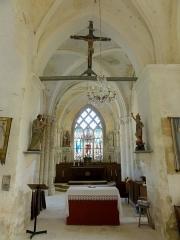 Eglise Saint-Romain -  Intérieur de l'église (voir titre).