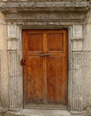 Eglise paroissiale Saint-Martin - Français:   Colmars - EgliseSaint-Martin - Porte latérale aménagée en 1530